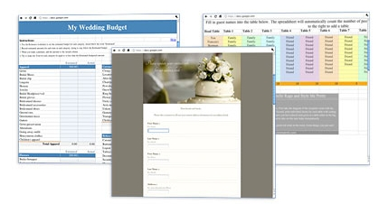 online address book for wedding