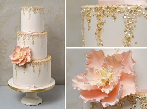 rose gold and cream wedding cake gold wedding cakes sa wedding guide 19267